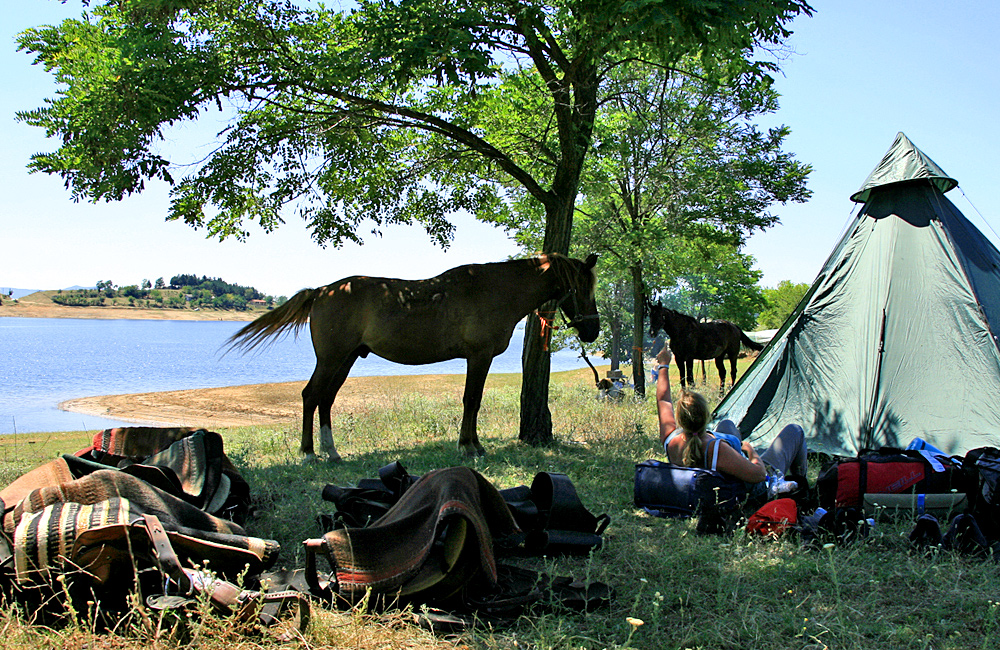 family horseback riding holiday in bulgaria