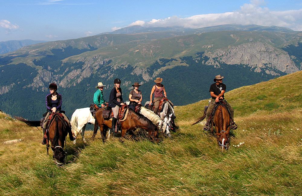 bulgaria on a horseback