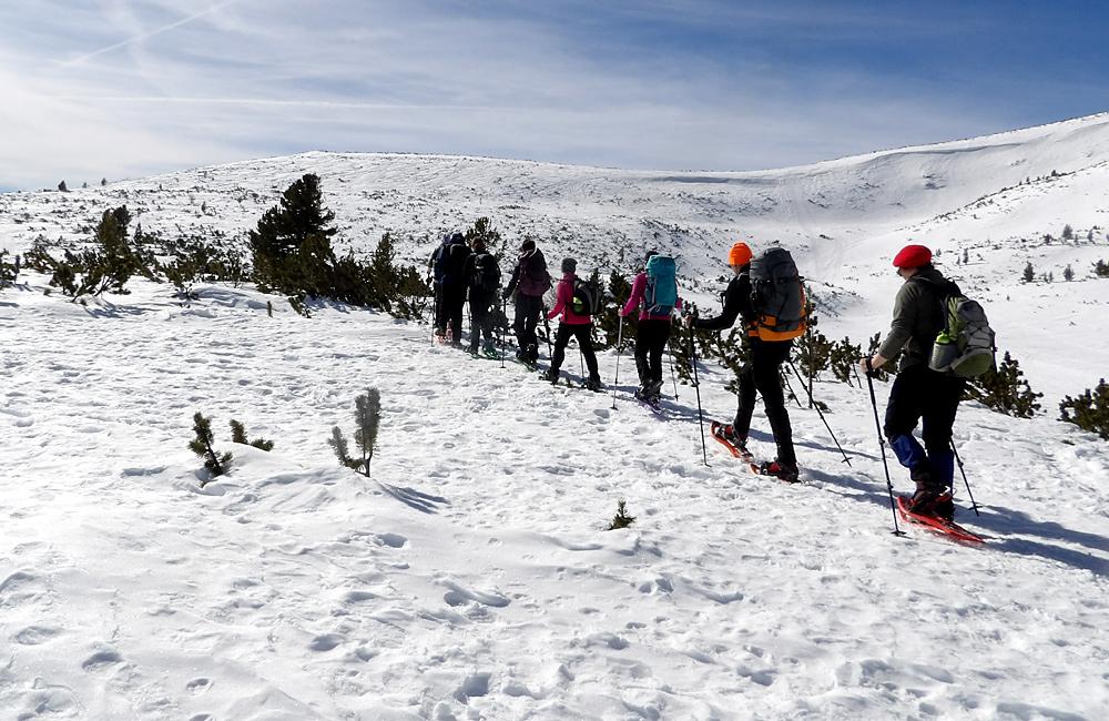 bulgaria snowshoeing