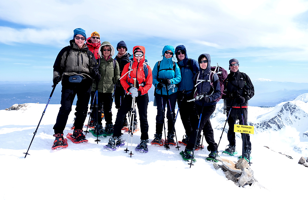 snow shoe trekking in bulgaria