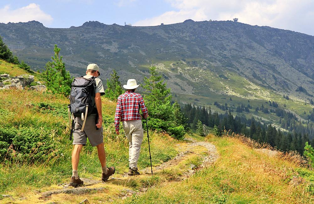 walking tour on vitosha mountains, bulgaria