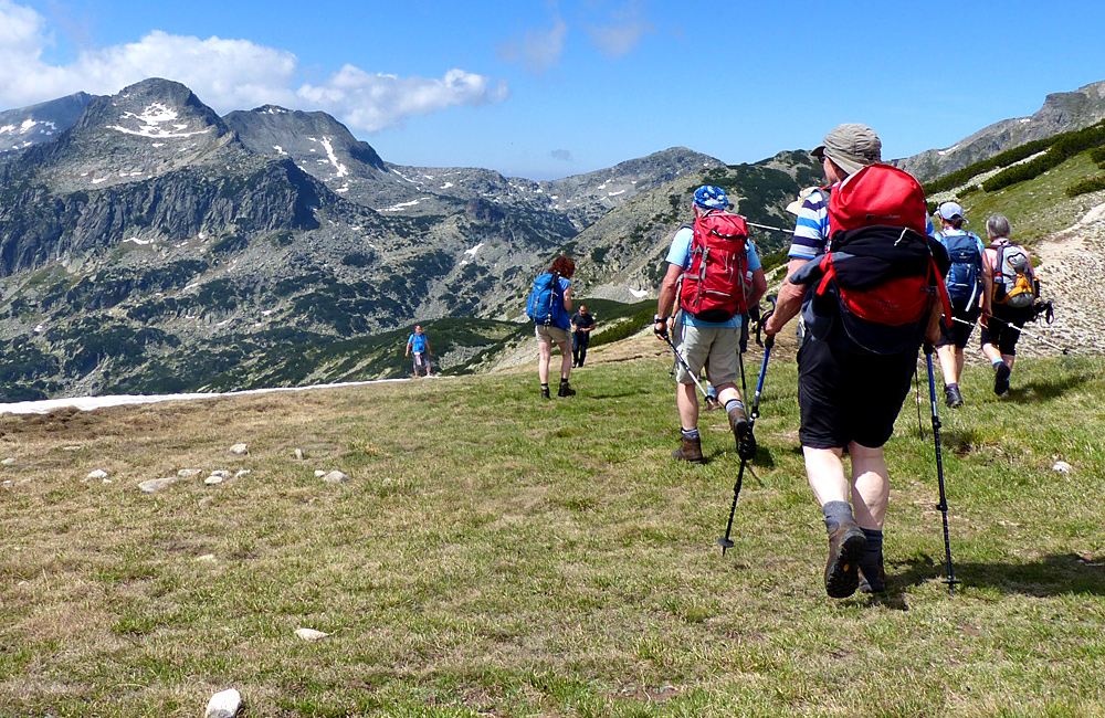 trekking in the pirin mountains of bulgaria, climbing mt. polezhan
