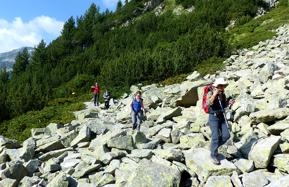 trekking in the pirin mountains of bulgaria, ascent to mt. vihren