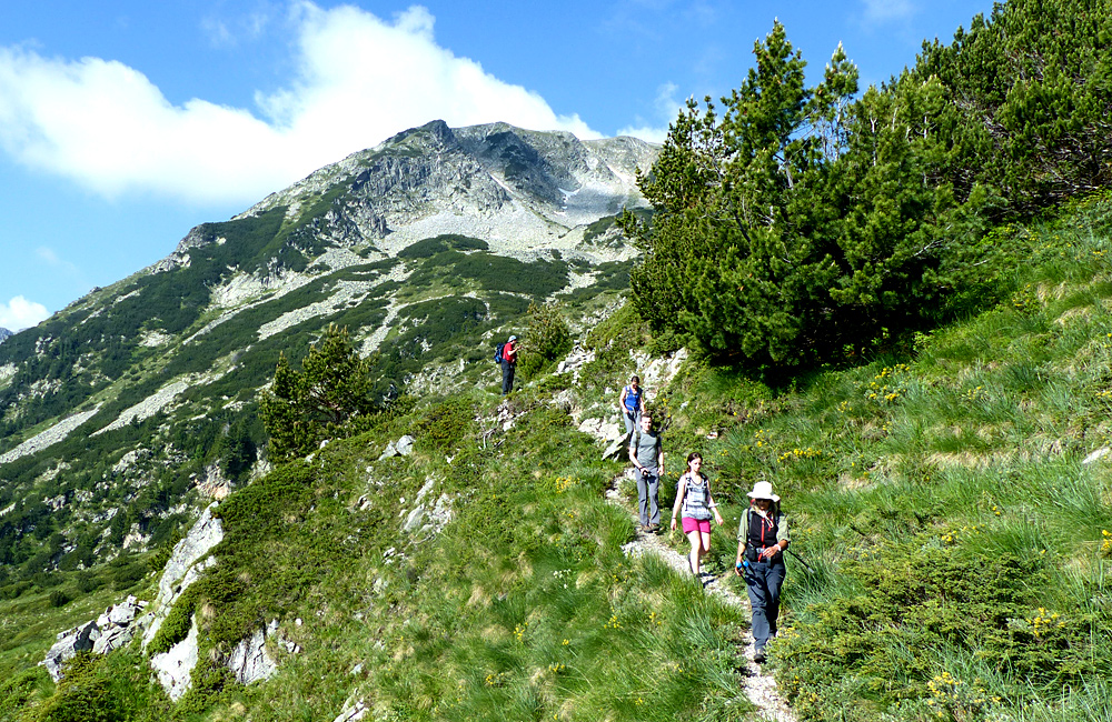 trekking in the pirin mountains of bulgaria, climbing mt. vihren