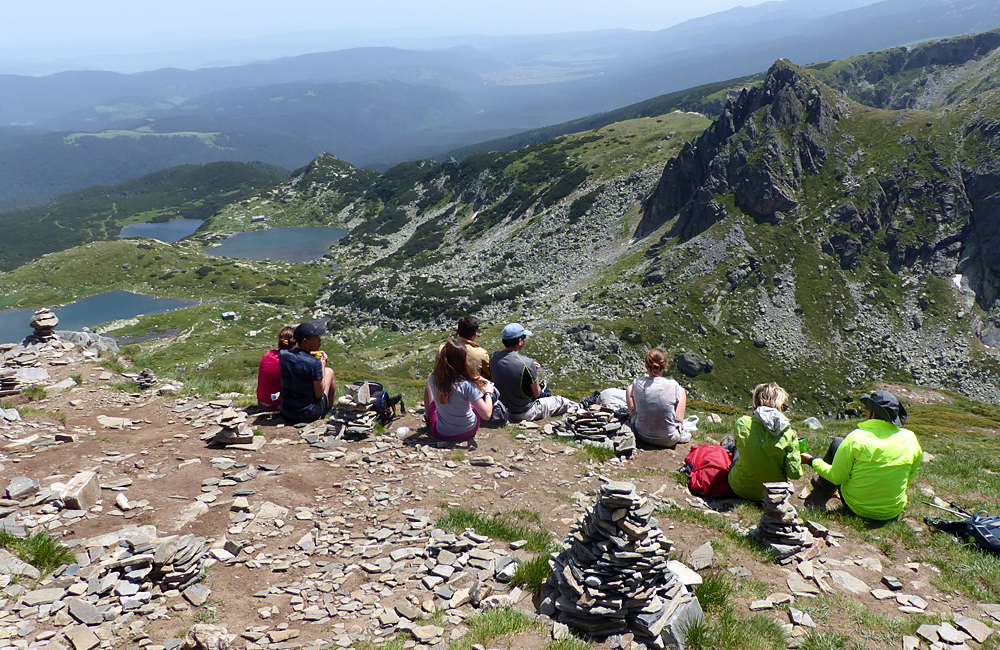 hiking tour in the rila mountains of bulgaria, the seven rila lakes