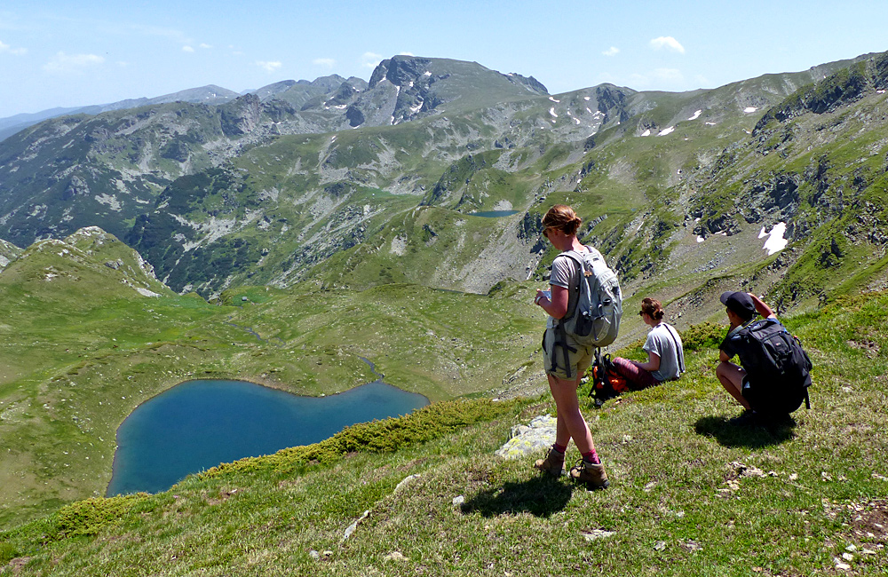 hiking tour in the rila mountains of bulgaria, the seven rila lakes