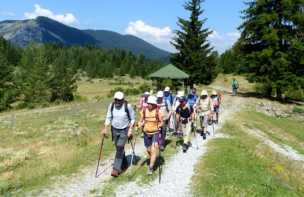 walking in the rhodope mountains of bulgaria